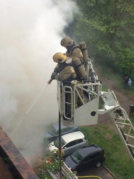 Пожар на Ленинском в доме 96 к3