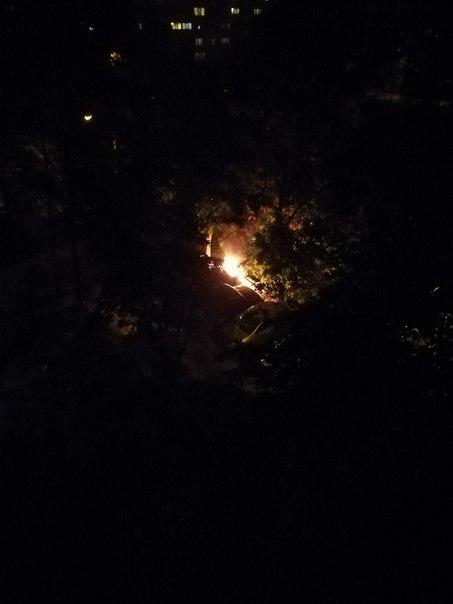 На Ветеранов подожгли машину!
