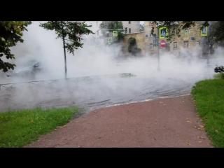 Разлив кипятка на улице академика Шиманского.От Савушкина до Школьной.Службы на месте.
