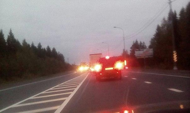 М20, Е95. Киевское шоссе, Мшинская стоим 2-ой час